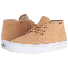 Vans Prairie Chukka (Tan) Women's Lace-up Boots ($62) ❤ liked on Polyvore featuring shoes, tan lace up shoes, tan shoes, vans footwear, wrap shoes and light weight shoes