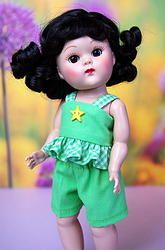 "**STaR ATTRaCTioN**..for Vogue's 7.5"" Ginny Doll 2 Piece cute ruffle top and shorts set. One set in stock now at www.karmelapples.com Click the pix to take you there."