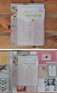 fun pages! love the vellum pocket page l o v e / d e s i g n / s u n s h i n e: Project Life