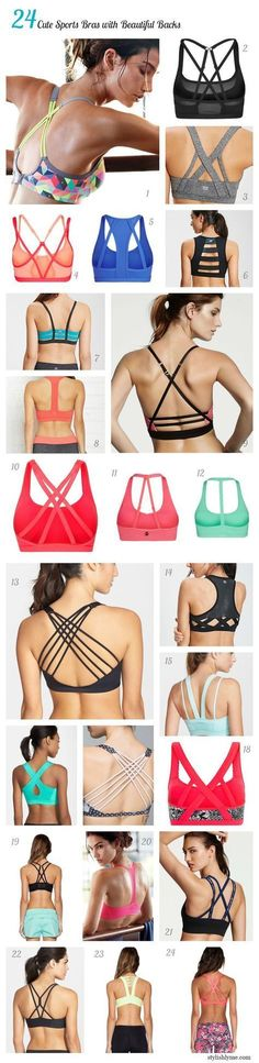 24 Cute Sports Bras with Beautiful Backs #gymoutfits