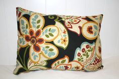 Decorative Floral lumbar pillow 12x16 with by RKCreativeDesign