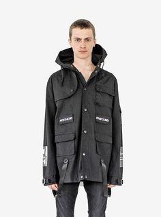 Cargo Belt Graphic Jacket in Black - Profound Aesthetic - 1