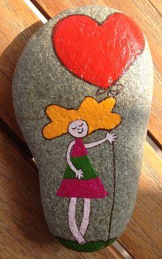 cutie #stone #pebble #rock #painting #art #N4Joy