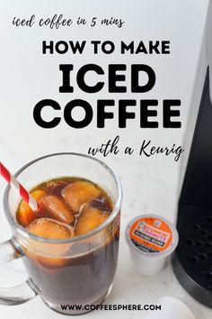 Iced Coffee With Keurig, Diy Cold Brew Coffee, Healthy Iced Coffee, Best Iced Coffee, Coffee Drink Recipes, Cold Brew Coffee Maker, Coffee Coffee, Coffee Drinks, Coffee Beans