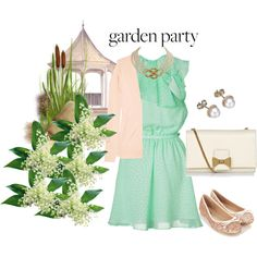 """""""Untitled #30"""" garden party outfit idea by ray-coelho on Polyvore"""