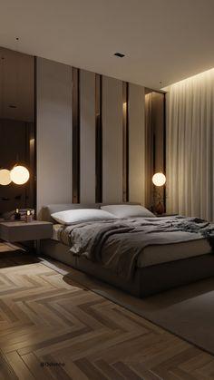 Modern Luxury Bedroom, Master Bedroom Interior, Luxury Bedroom Design, Bedroom Closet Design, Modern Master Bedroom, Bedroom Furniture Design, Home Room Design, Luxurious Bedrooms, Modern Tv Room