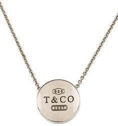 I love this! Tiffany & Co. 1837 Round Pendant Necklace #Gift #Necklace #Jewelry #Tiffany #Afflink