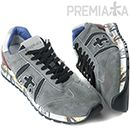 PREMIATALUCYLace-Up Vintage Running Shoes(Gray-Wine)14FW - LUCY 1003Show the world your sporty side by wearing these authentic Premiata running sneakers. With a vintage tone in gray color, it has lace-up front fastening, brand tag on the tongue and signature logo patch detail on the sides. Designed with thick but lightweight soles with printed sides and has a breathable, snug fit. Look ultra-cool and laid-back when paired with your hoodie and joggings pants.
