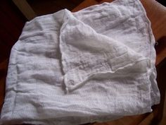 Fabric diaper Muslin fabric A clean pillowcase A clean sheet A tea towel T shirt Thin dish towel Unbleached cfe filters Sheer curtains Dinner On A Budget, Budget Dinners, Used Cloth Diapers, Nourishing Traditions, Self Reliance, Homemade Yogurt, Cheese Cloth, How To Make Cheese, Fermented Foods