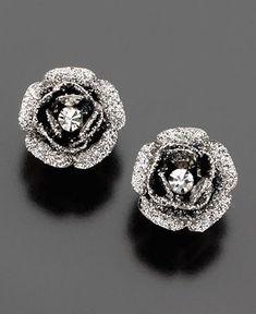 Betsey Johnson Rose Earrings
