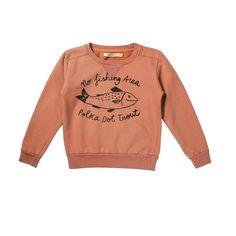 Bobo Choses Sweatshirt Crew Neck Trout   www.littlesahou.com