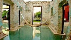 hacienda ruins repurposed as swimming pools http://www.nomad-chic.com/