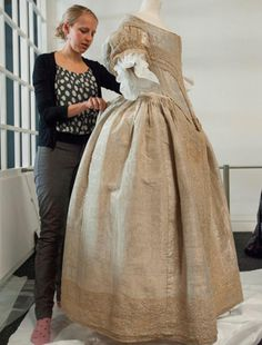Silver Tissue Dress at the National Maritime Museum