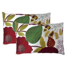 Celebration Summer Garden Decorative Throw Pillows (Set of 2)