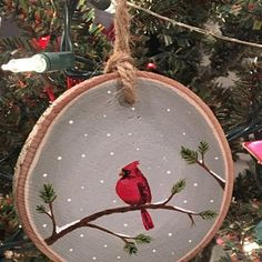 Items similar to Lighthouse Wood Slice Ornament, Rustic Wood Decor, Wooden Ornament, Hand Painted Ornament on Etsy Handpainted Christmas Ornaments, Christmas Ornament Crafts, Hand Painted Ornaments, Wooden Ornaments, Christmas Wood, Christmas Crafts, Christmas Decorations, Wood Slice Crafts, Rustic Wood Decor