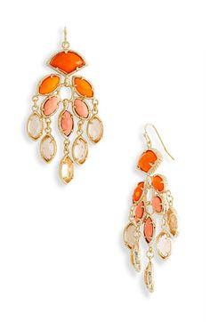 Loving these chic orange chandelier earrings by Kendra Scott @soir airaéebliss! Events