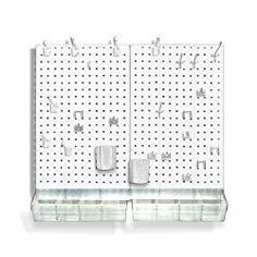 Azar Displays 22 in. H x 27 in. W x D Styrene Pegboard Kit Pieces) - - The Home Depot