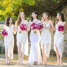 White Chiffon Side Split Spaghetti Strap Sexy Tea Length Cheap Wedding Party…