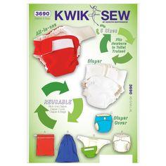Diapers, Diaper Cover, Insert & Bags-XS-S-M-L-XL, Bag Sizes: S-M-L Pattern