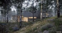 Best of Week 06/2014 - House in the Forest by Juan K Torres - Ronen Bekerman - 3D Architectural Visualization & Rendering Blog