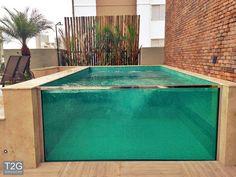 Small Backyard Pools, Small Pools, Swimming Pools Backyard, Swimming Pool Designs, Small Above Ground Pool, In Ground Pools, Piscina Hotel, Piscina Interior, Small Pool Design