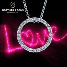 The circle of ‪#‎love‬ can never be broken. This 14K White Gold Diamond circle of love pendant necklace features stunning shared prong set round ‪#‎diamonds‬ that you will always wear close to your ‪#‎heart‬. Visit your local ‪#‎GottliebandSons‬ retailer and ask for style number 27290B. http://www.gottlieb-sons.com/product/detail/27290B