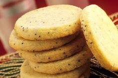 This dough for these Lithuanian poppy seed cookies recipe is scoopable. After baking, they can be dusted with confectioners' sugar, if desired.