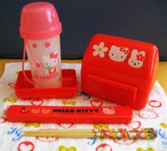Super cute Hello Kitty bento box kit