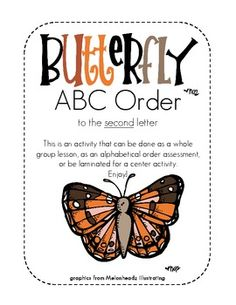 Butterfly ABC Order, to the 2nd letter
