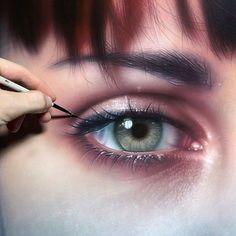 😱Just Incredible Eye Painting!!😍  Artwork by @Danieldustart Follow him!  Tag your friends below!👇👇#Dailyart    #Regram via @dailyart