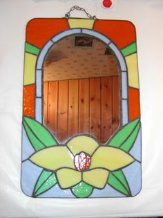 Stained glass mirror made by me