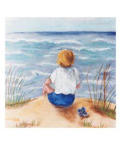 Loving this Child at Beach Wall Art on #zulily! #zulilyfinds
