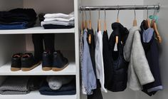 A full cool weather capsule wardrobe for girls. Follow along on instagram @myweewardrobe for daily outfit inspiration Blue Grey, Red And White, Daily Outfit, Capsule Wardrobe, Weather, Cool Stuff, Girls, Inspiration, Outfits
