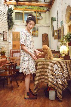 MonMonMori - Mori Girl. Harajuku Fashion, Kawaii Fashion, Fashion Outfits, Harajuku Girls, Grunge Outfits, Fashion Styles, Mori Mode, Forest Fashion, Mori Girl Fashion