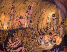 Cave painting in the Paleolithic Ancient Art, Ancient History, Art History, Historical Art, Historical Pictures, Paleolithic Art, Stone Age Art, Prehistoric World, Indigenous Tribes