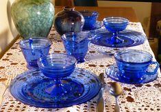 Moderntone Blue Depression Glass