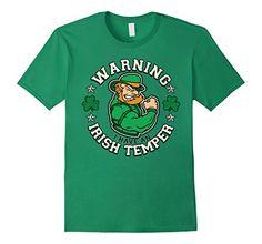 Warning I Have An Irish Temper T-shirt Patrick's Day