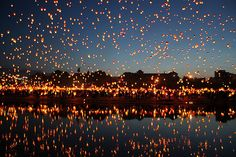 Some Asian cultures have festivals where hundreds, even thousands of participants, release their wishes to the heavens.