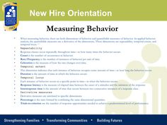 New hire training: Applied Behavior Analysis