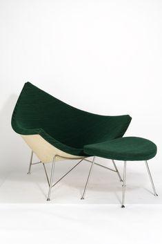 Georg Nelson, Coconut Chair mit Ottomane (1955)