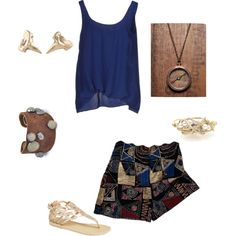 """Kellani: adrift"" by zaroo on Polyvore, featuring a Leather and Sand Bracelet by Casey Sharpe"