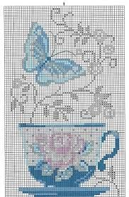 Image result for stacked teacups cross stitch