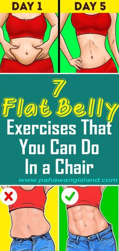 7 Flat Belly Exercises That You Can Do In a Chair Doktor Osman Flat Belly Water, Yoga For Flat Belly, Flat Belly Fast, Flat Belly Foods, Health Tips, Health And Wellness, Flat Belly Challenge, Flat Tummy Workout, Fat Workout