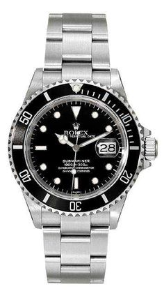 Rolex Submariner Steel 16610 - Luxury Of Watches Rolex Oyster Perpetual, Rolex Submariner No Date, Rolex Datejust, Vintage Rolex, Amazing Watches, Cool Watches, Fancy Watches, Rolex Diamond Watch, Diamond Watches