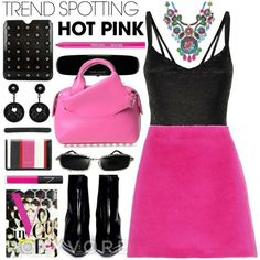 I wear this hot pink.