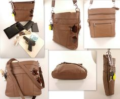 The Connie  A Versatile Brown Leather Conceal by CamilleConceals