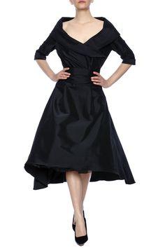 Taffeta Portrait Collar Dress - main