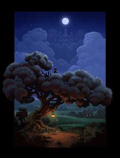 Beautiful moon lite painting.......