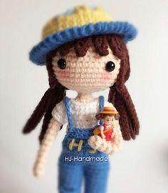 Muñeca Yunshu Amigurumi - Patrón Gratis en Español aquí: http://www.crochetyamigurumis.com/muneca-de-crochet/