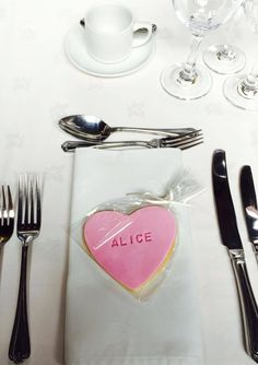 Alice and Luke had some very tasty place names at their wedding!